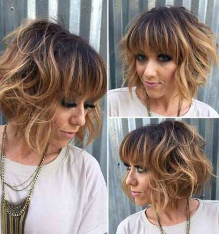 caramel balayage highlights balayage short hair looks