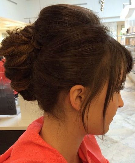 chunky twist with bangs french twist updos
