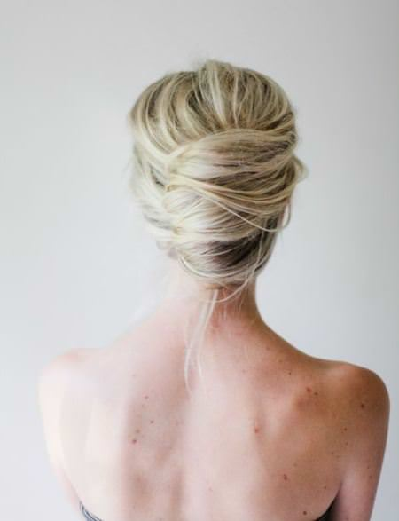 cclassic updo with thick accent braid updos for long hair
