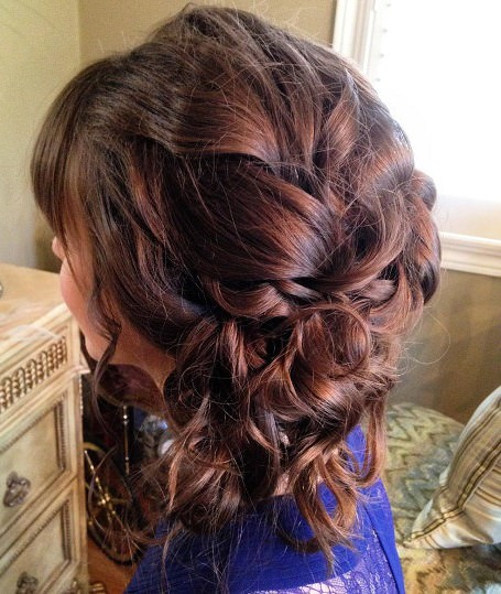 curl hairdo with tendrils half up and half down wedding hairstyles