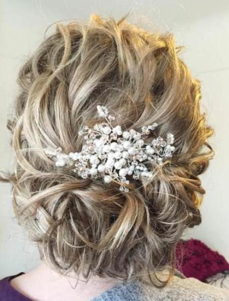 curly bridal updo stylish ideas for brides