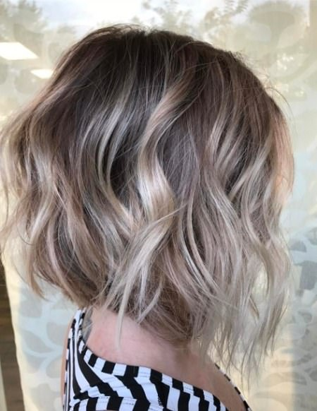 curly highlighted bob blonde bobs for women