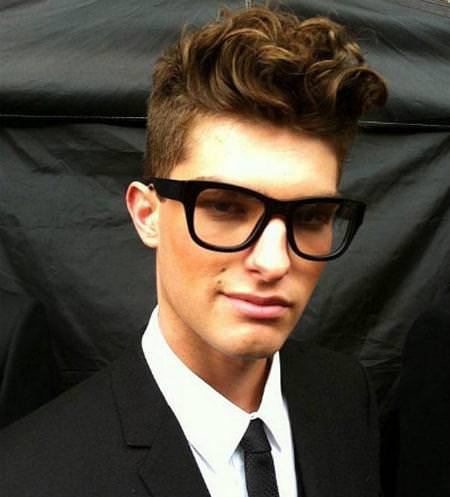 curly pompadour hairstyles for men