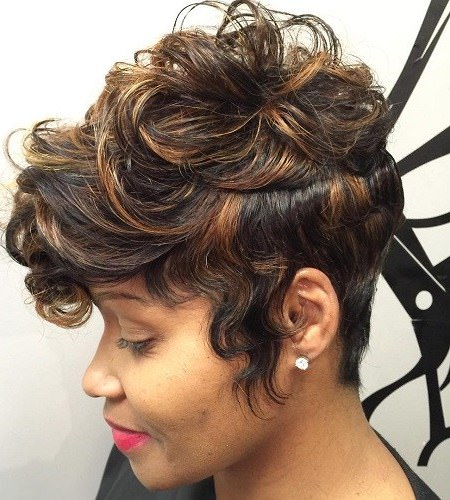 curly top weave hairstyles for black women