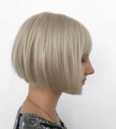 cute bob with short bangs blonde bobs for women