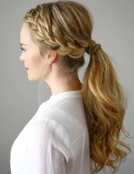 double French braid crown french braid ponytails