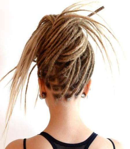 dreadlock updo with extensions dread locks for women