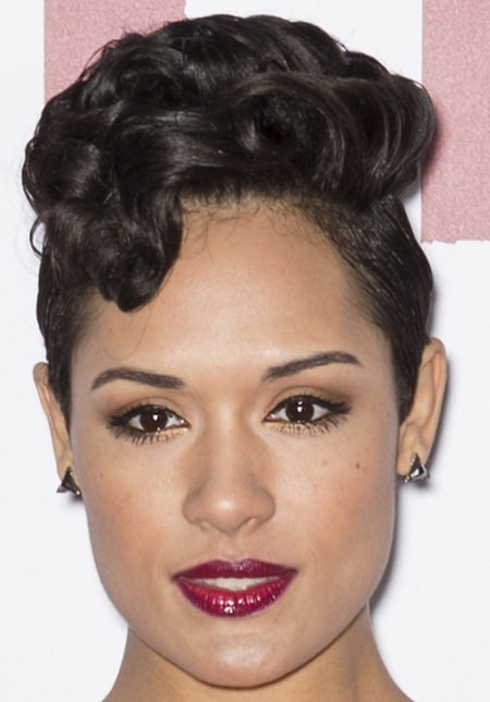 fancy short black curly hairstyles