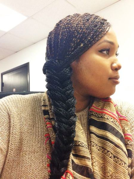 fishtail braid senegalese twists for black women