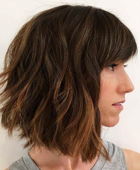 flipped out shoulder length hairstyle medium bob hairstyles