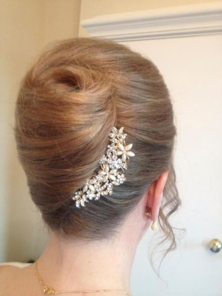 french twists ideas for brides
