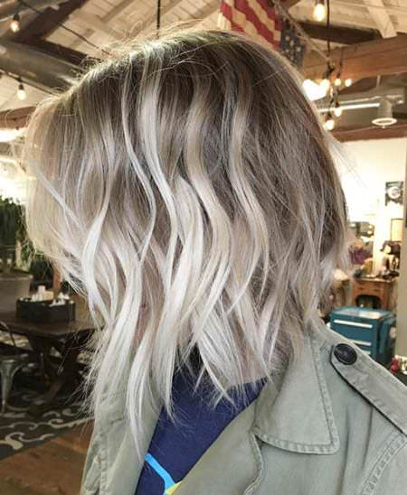 ice blonde highlights balayage short hair looks