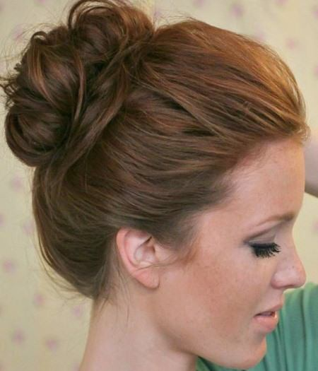 knotted bun updo updos for women