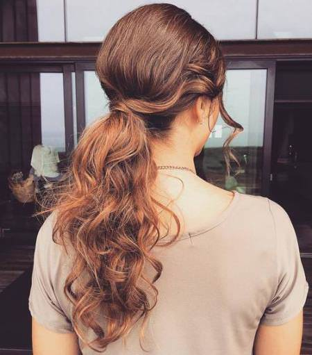 lively and low ponytail messy ponytail hairstyles