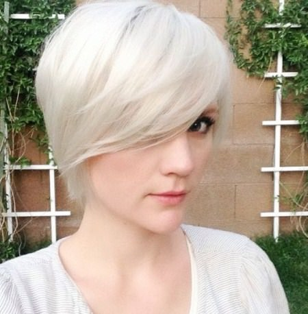 long pixie with side swept bangs