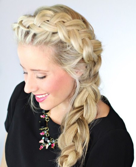 loose dutch braid side braid hairstyles