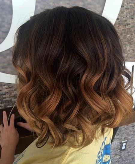 medium beachy waves with ombre highlights balayage short hair looks