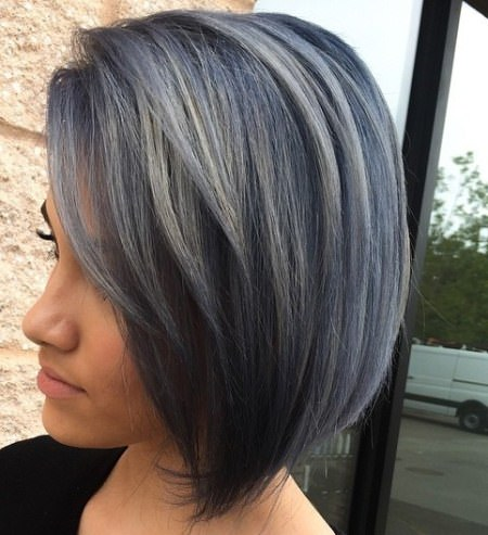 medium length gray bob with bangs medium bob hairstyles