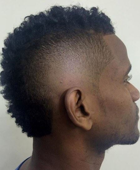 natural curls with fade shave mohawk hairstyles for men
