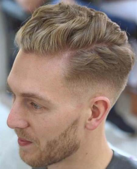 natural waves and parting hairstyles and haircuts for men