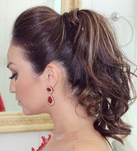 pumped up messy ponytail messy ponytail hairstyles