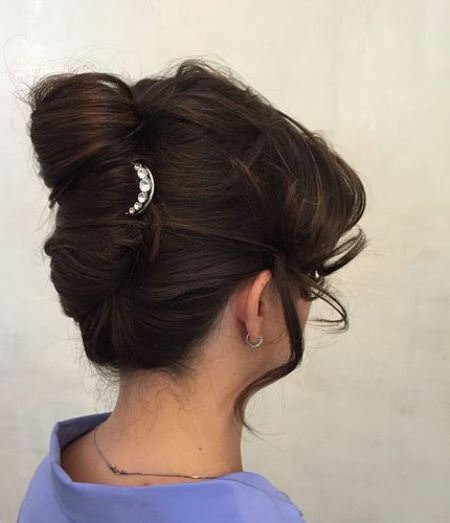 relaxed twist with curls french twist updos