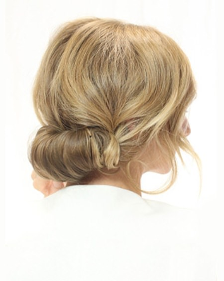 rolled updos for long hair