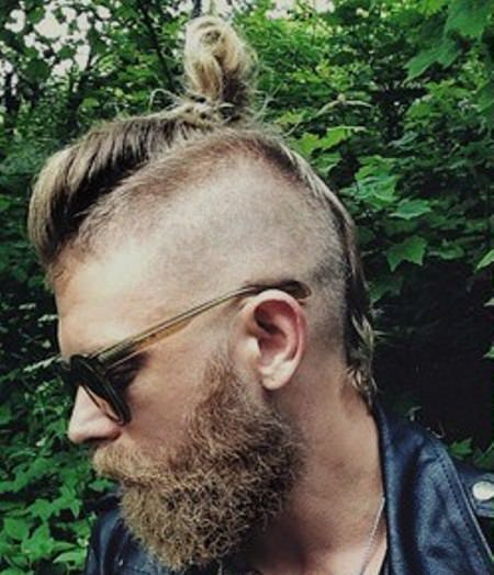 shaved with side top knot mohawk hairstyles for men