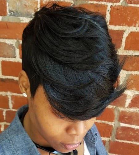 short layered cut weave hairstyles for black women