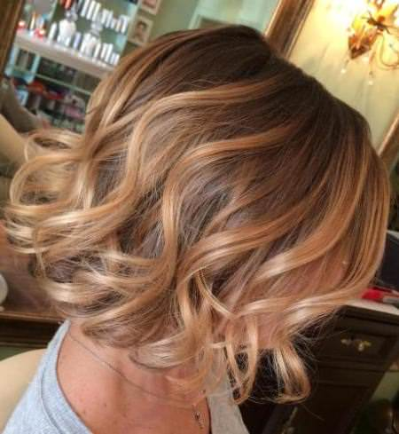short soft blonde curls balayage short hair looks