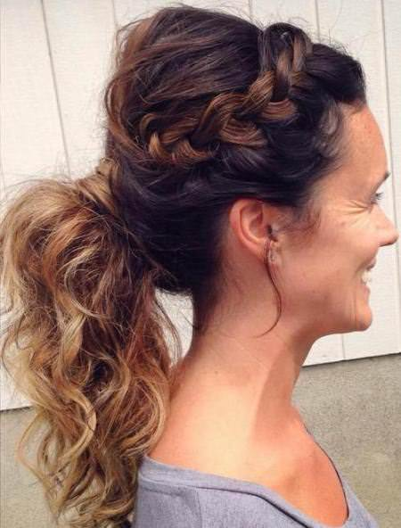side braid updos for women over 40