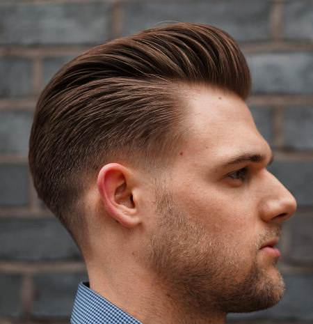 slicked back pompadour hairstyles for men
