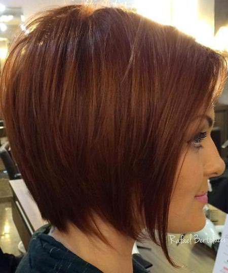 tapered auburn medium bob hairstyles