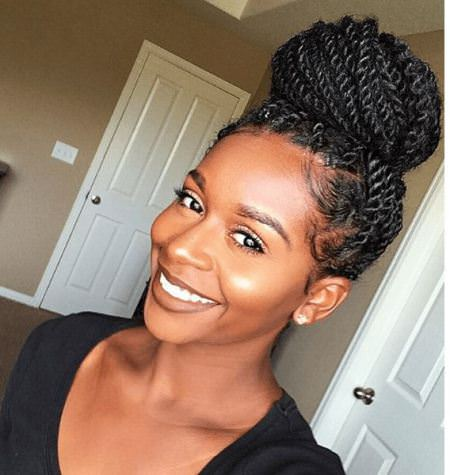 top knot senegalese twists for black women