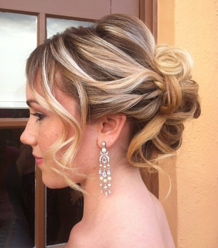 tousled updos for women