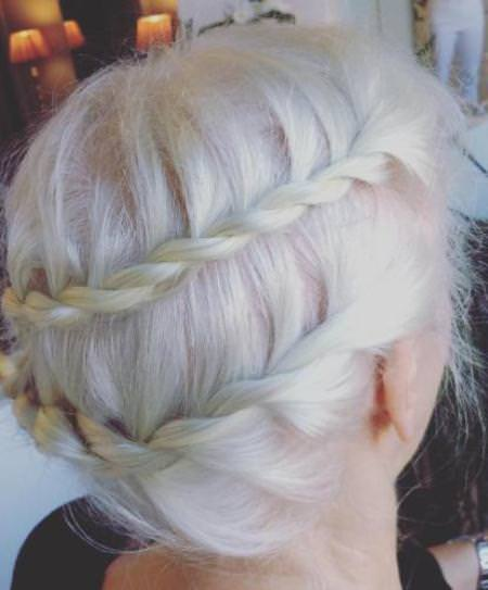 trendy and terrif updos for women over 40