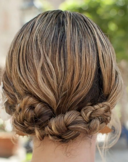 twist knot updos for long hair