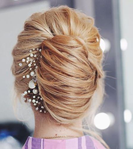 unique woven french twist updos