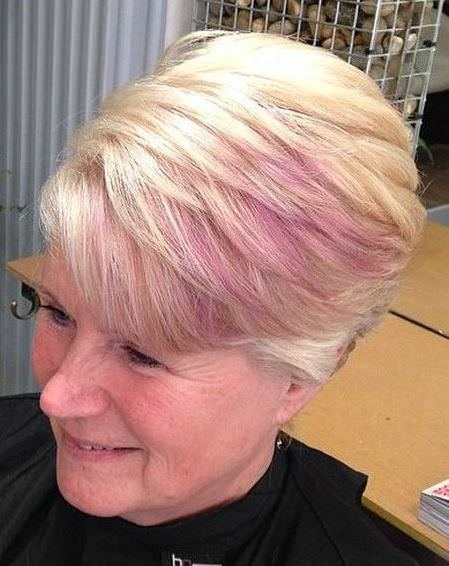 A dash of pink short blonde hairstyles and haircuts