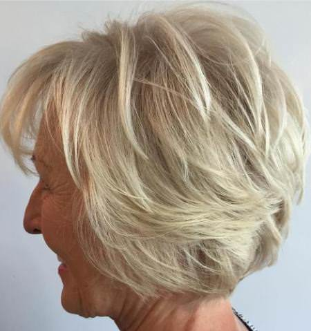 Ash blonde short layered hairstyle hairstyles and haircuts for women over 60