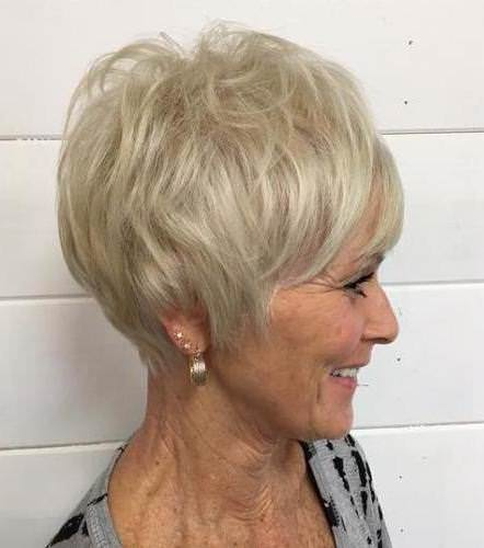 Blonde crop with volume hairstyles and haircuts for women over 60