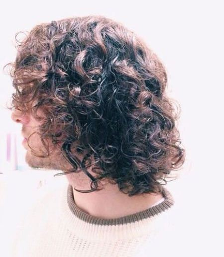 Brunch ready head curly hairstyles for men