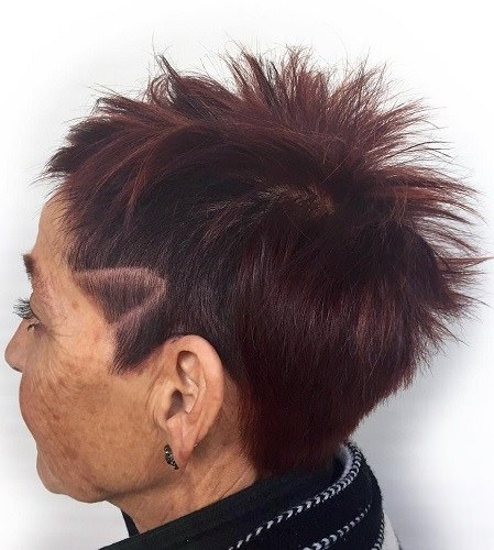 Chic side undercut hairstyles and haircuts for women over 70