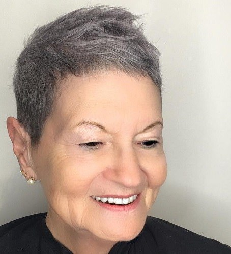 Extra short gray haircut hairstyles and haircuts for women over 70