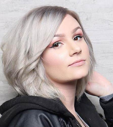 Gray bob for round face medium hairstyles for round face