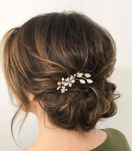 Messy chignon updo iconic braid hairstyles