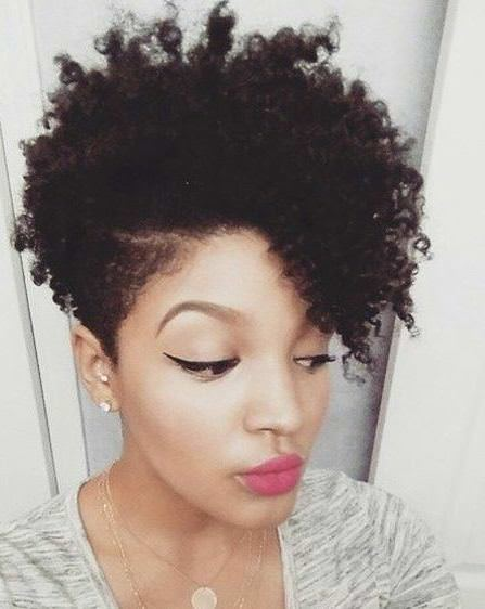 Natural hairstyles with closely clipped sides Natural hairstyles for African American women