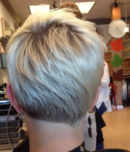 Short Pixie with asymmetrical cut at the nape short blonde hairstyles and haircuts