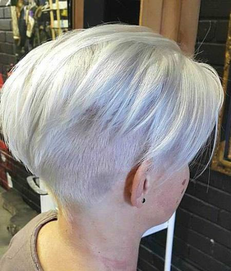 Silver blonde undercut hairstyles and haircuts