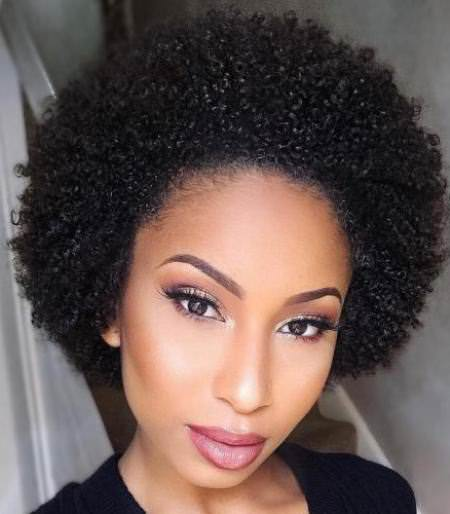 The tighest and tiny curls Natural hairstyles for African American women